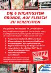 Anti-Fleisch-Flugblatt