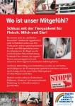 """Plakat """"Mitgefühl statt Fleisch"""""""