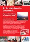 """Plakat """"Urwaldzerstörung wegen Fleisch"""""""