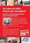 Plakat Fleisch oder Gesundheit