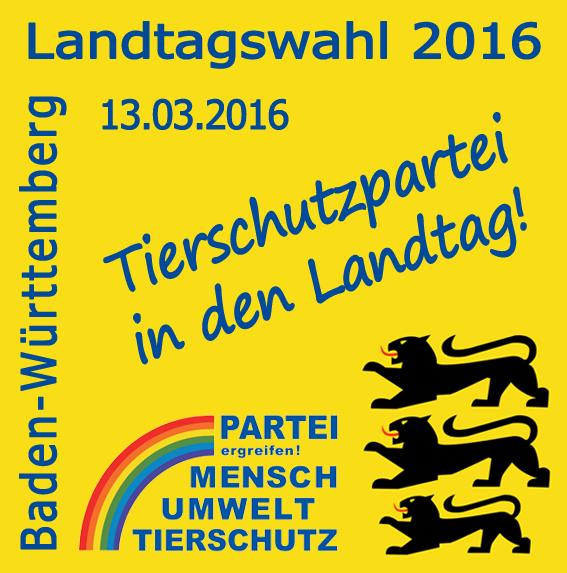 landtagswahl 2016 in baden w rttemberg partei mensch umwelt tierschutz. Black Bedroom Furniture Sets. Home Design Ideas