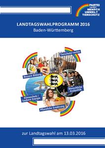 Landtagswahlprogramm 2016 BW Deckblatt