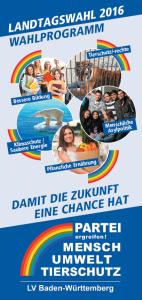 Landtagswahlprogramm 2016 BW Deckblatt Flyer