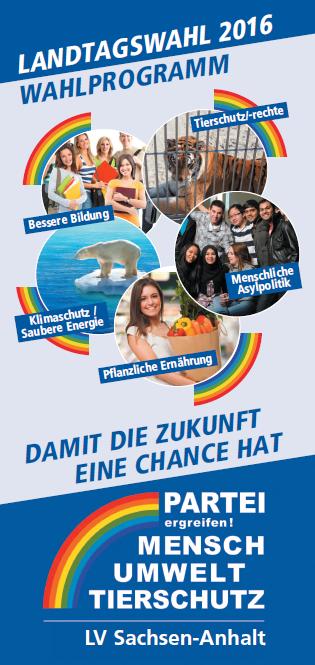 Landtagswahlprogramm 2016 ST Deckblatt Flyer