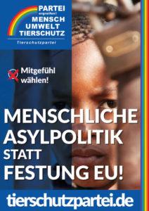 Wahlplakat Bundestagswahl Asylpolitik