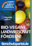 Wahlplakat Bundestagswahl Bio-vegane Landwirtschaft