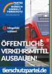 Wahlplakat Bundestagswahl Öffentliche Verkehrsmittel