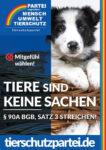Wahlplakat Bundestagswahl Tiere sind keine Sachen