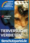 Wahlplakat Bundestagswahl Tierversuche