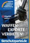 Wahlplakat Bundestagswahl Waffenexporte
