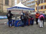 Tierversuche Tübingen - Infostand bei Demo