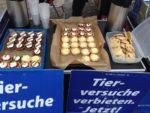 Tierversuche Tübingen - vegane 5-Sterne-Demoverpflegung