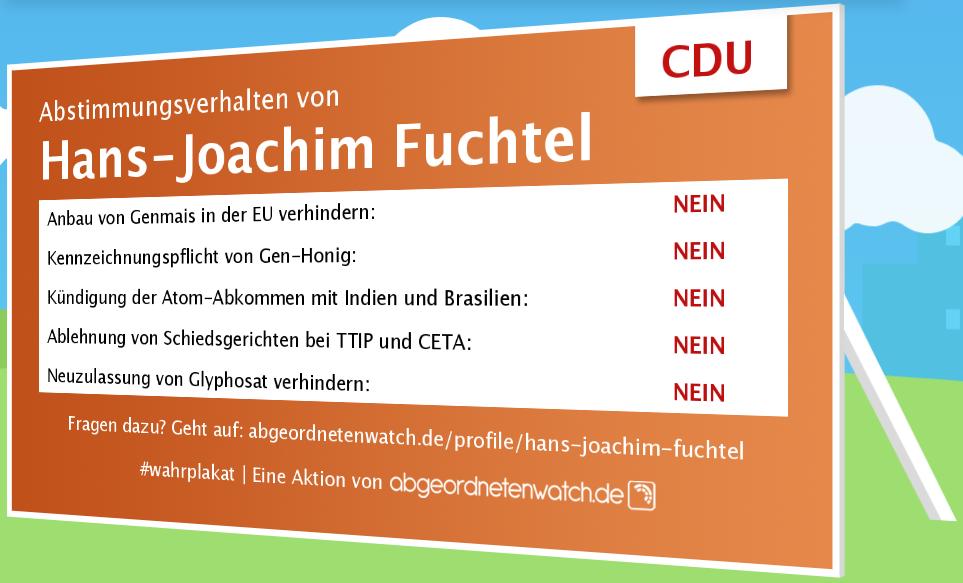 Abstimmugsverhalten Hans-Joachim Fuchtel CDU Umweltschutz