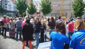 Kundgebung gegen Tierfabrik bei Sigmaringen
