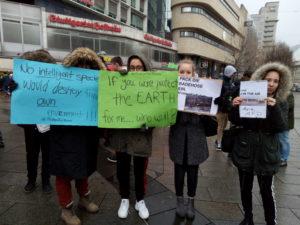 Schulstreik für Klimaschutz diverse Banner