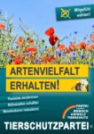 Wahlplakat Europawahl Artenvielfalt