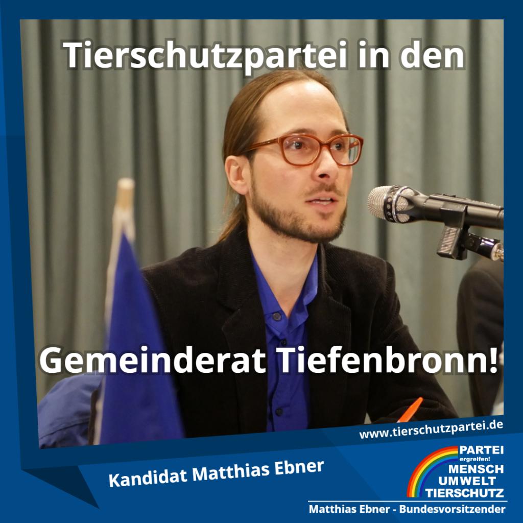 Matthias Ebner in den Gemeinderat Tiefenbronn