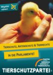 Wahlplakat Europawahl Tierrechte in Parlamente
