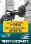 Wahlplakat Europawahl Aufrüstung