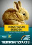 Wahlplakat Europawahl Tierversuche