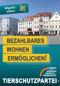 Wahlplakat Europawahl Wohnen