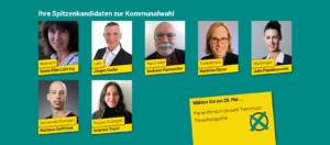 Die Spitzenkandidierenden zur Kommunalwahl in Baden-Württemberg