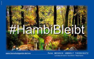 Hambacher Forst - Symbol des Protestes gegen die klimaschädliche Lobbypolitik von Herbert Reul