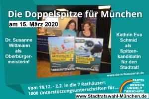 Unsere Doppelspitze zur Kommunalwahl in München