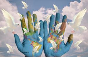 Friedenstauben, Kontinente und Länder