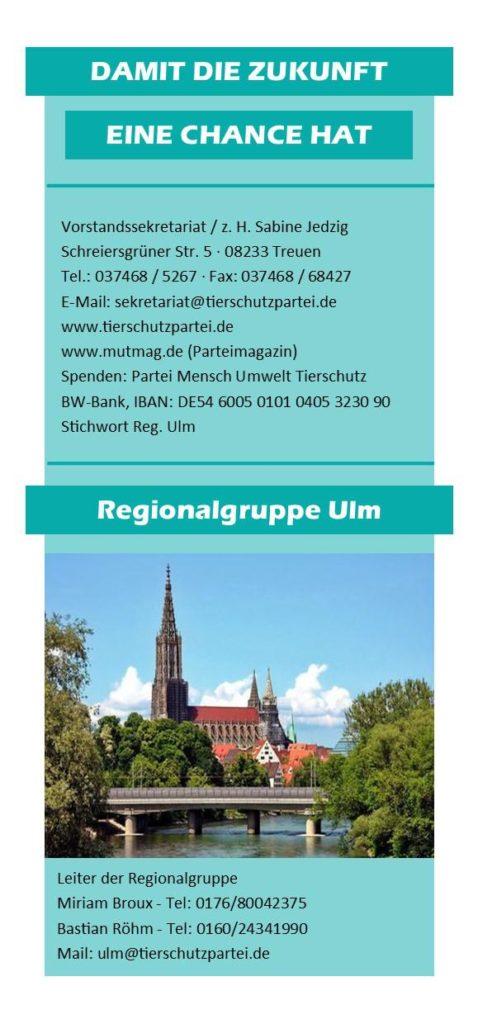 Flyer Ulm Rückseite
