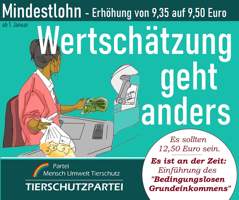 Mindestlohn-Erhöhung 2021 zu gering! - Partei Mensch ...