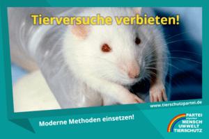 Tierversuche verbieten