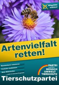 Wahlplakat Bundestagswahl Artenvielfalt