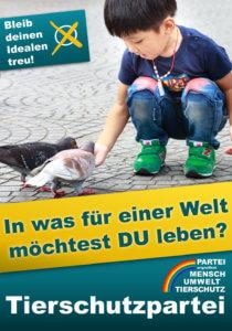 Wahlplakat Bundestagswahl - in welcher Welt willst du leben?